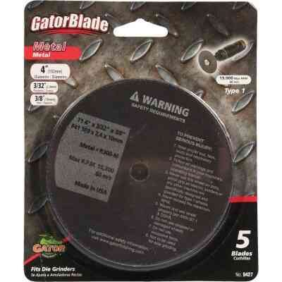 Gator Blade Type 1 4 In. x 3/32 In. x 3/8 In. Metal Cut-Off Wheel (5-Pack)