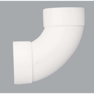 IPEX Canplas 3 In. SDR 35 90 Deg. PVC Sewer and Drain Sanitary Elbow (1/4 Bend)