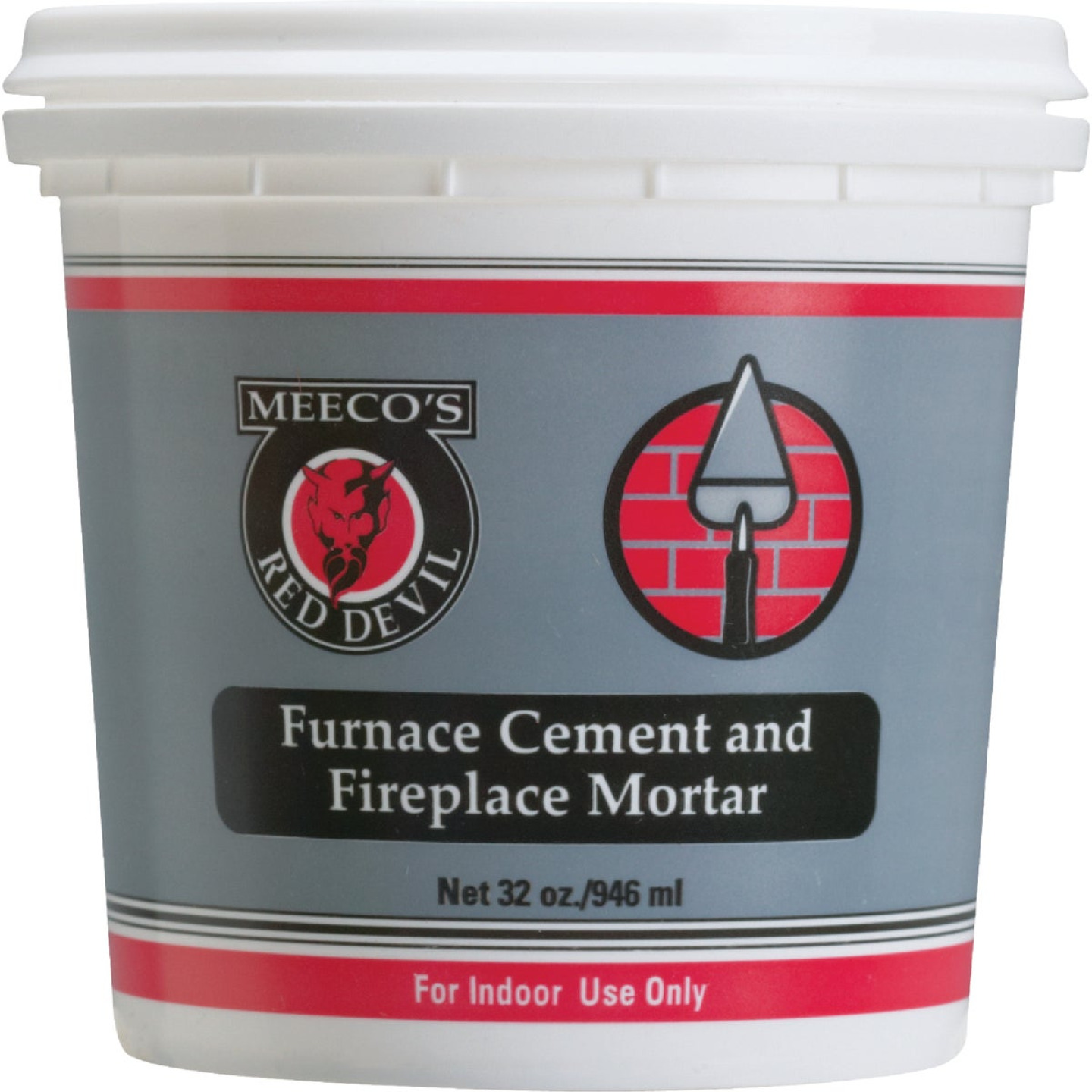 Meeco's Red Devil 1 Qt. Gray Furnace Cement & Fireplace Mortar Image 1