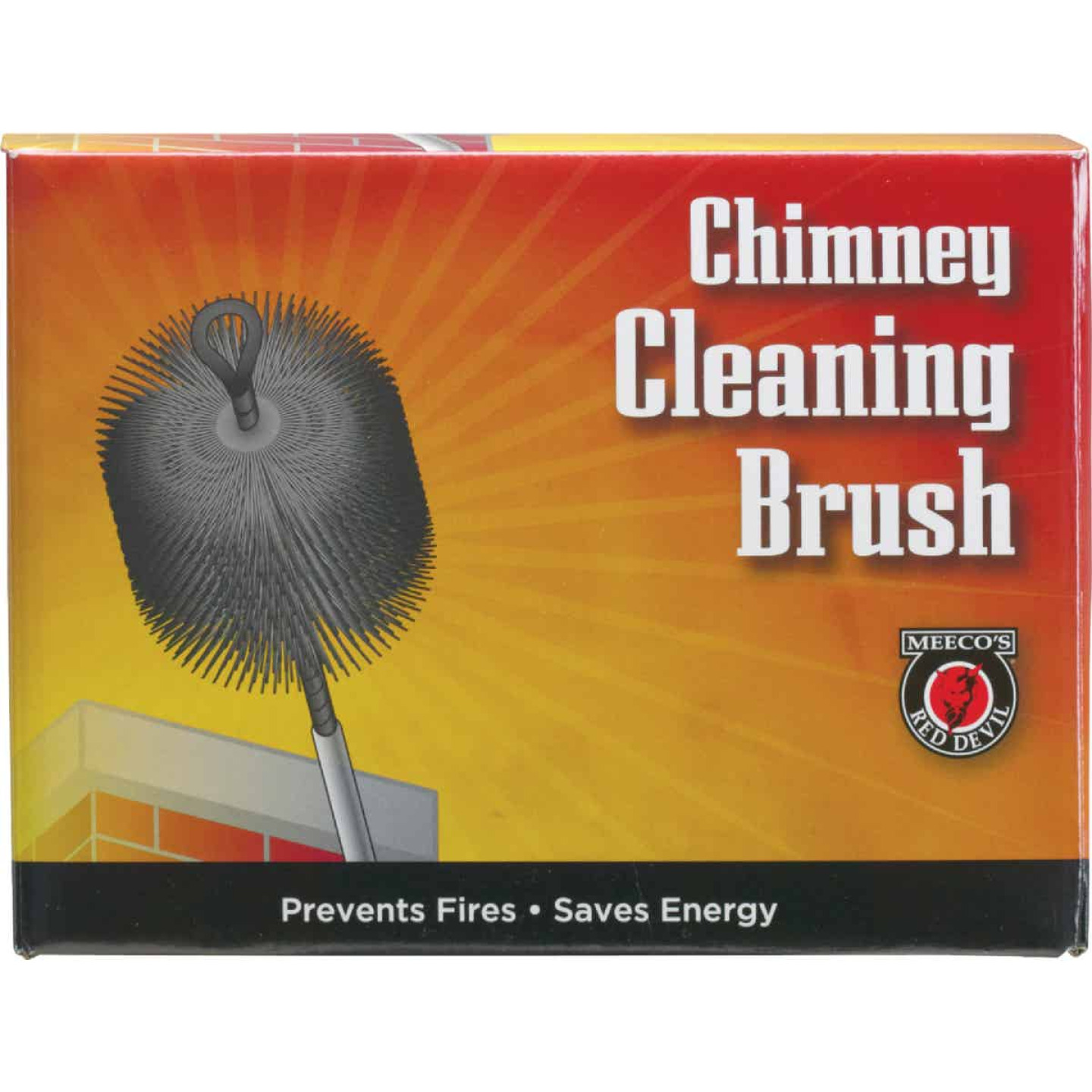 Meeco's Red Devil 6 In. Round Poly Chimney Brush Image 2