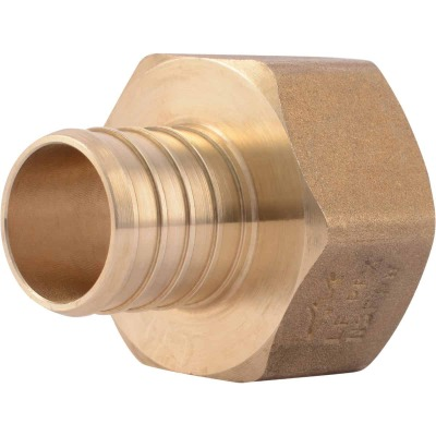 SharkBite 1 In. Barb x 1 In. FIP Brass PEX Adapter