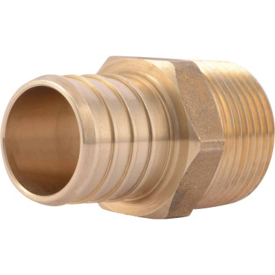 SharkBite 1 In. CF x 3/4 In. MPT Brass PEX Adapter