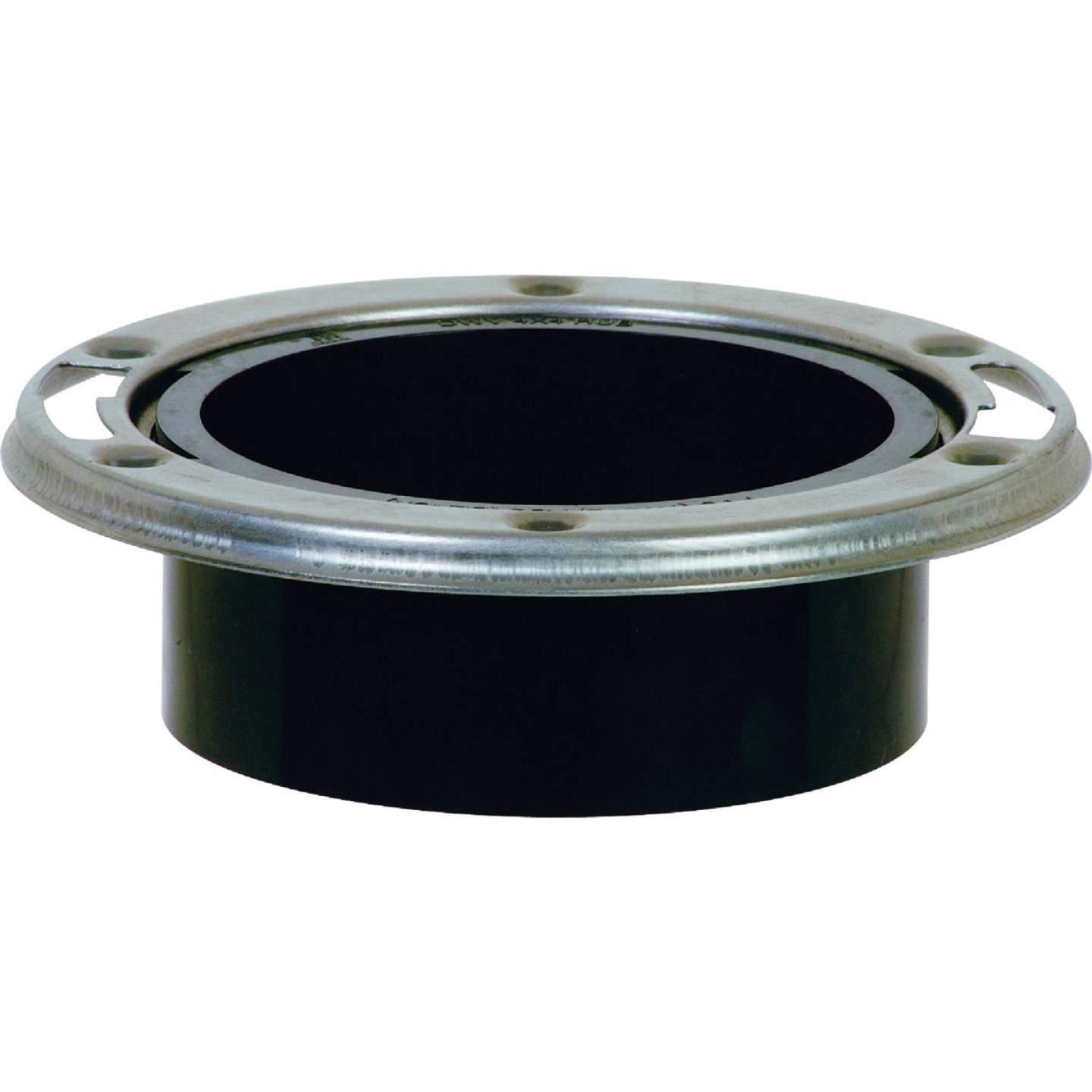 ABS 4 In. Hub Closet Flange with Stainless Steel Ring  Image 1