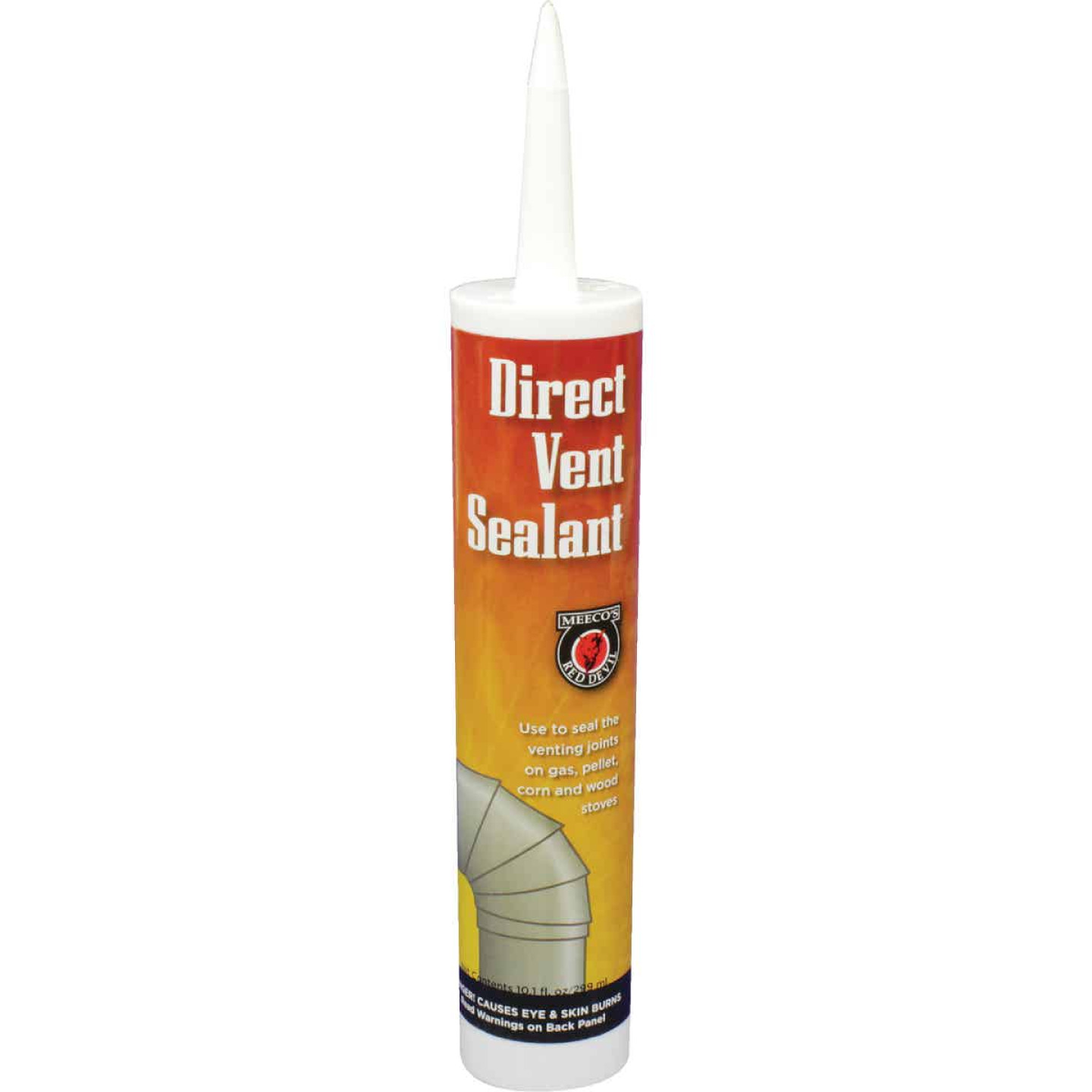 Meeco's Red Devil 10.3 Oz. Black Direct Vent Hi-Temp Sealant Image 1