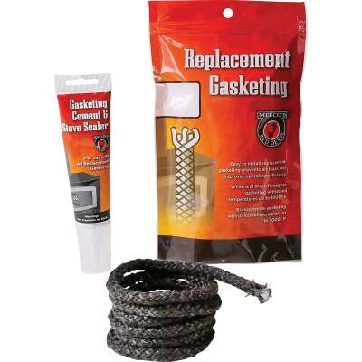 Meeco's Red Devil Gasketing Cement/Stove Sealer and 3/8 In. x 6 Ft. Replacement Rope Gasket Kit