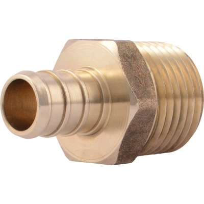 SharkBite 1/2 In. CF x 1/2 In. MPT Brass PEX Adapter