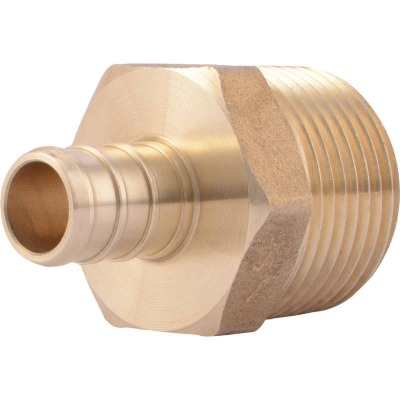 SharkBite 1/2 In. CF x 3/4 In. MPT Brass PEX Adapter