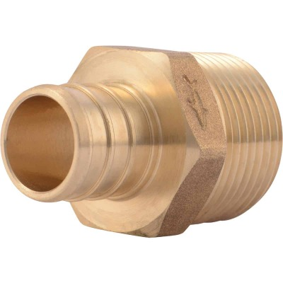 SharkBite 3/4 In. CF x 3/4 In. MPT Brass PEX Adapter