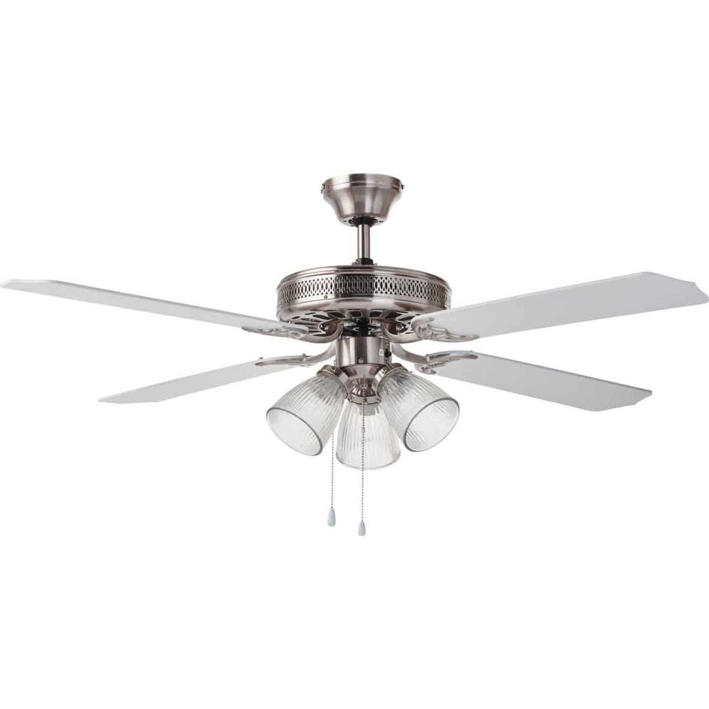 Home Impressions Chateau 52 In. Brushed Nickel Ceiling Fan with Light Kit Image 2