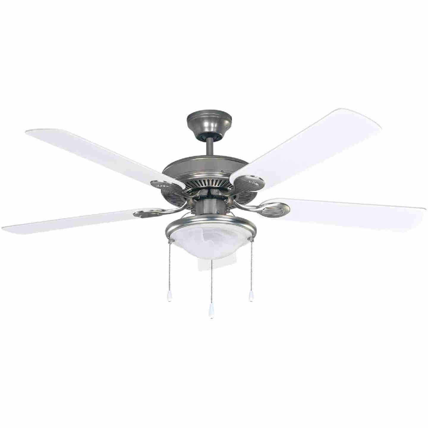 Home Impressions Kincade 52 In. Brushed Nickel Ceiling Fan with Light Kit Image 1