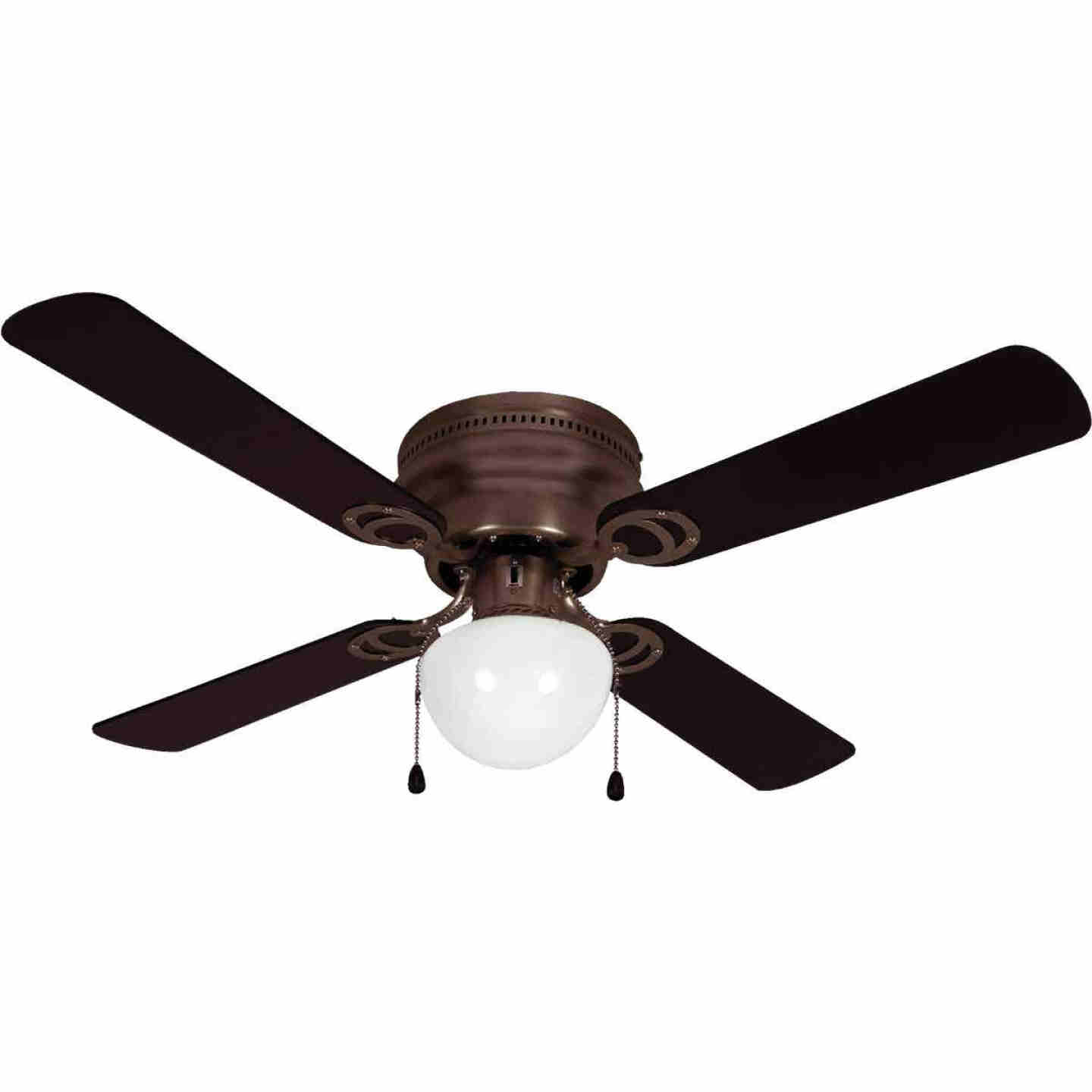 Home Impressions Neptune 42 In. Oil Rubbed Bronze Ceiling Fan with Light Kit Image 1