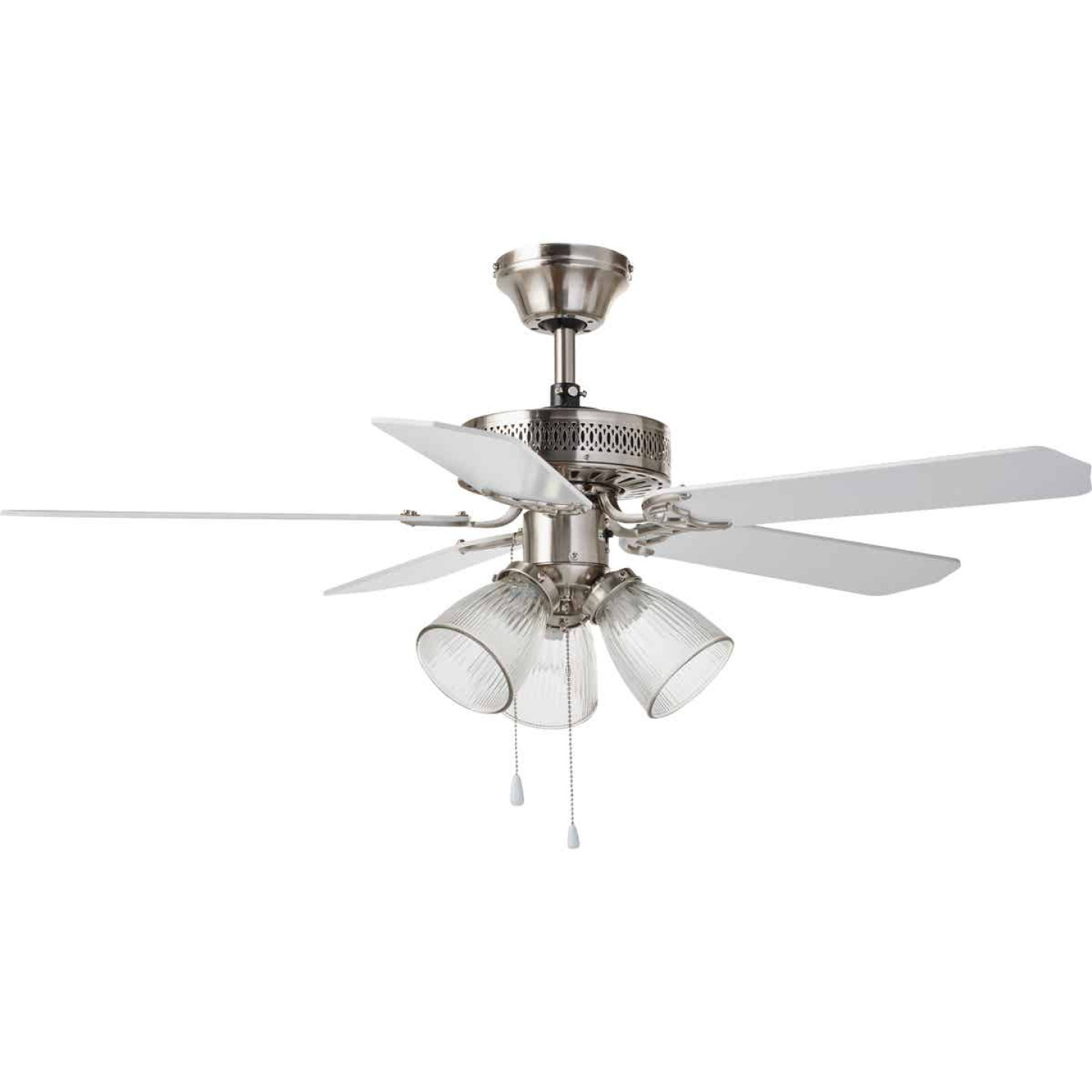 Home Impressions Tradition 42 In. Brushed Nickel Ceiling Fan with Light Kit Image 2