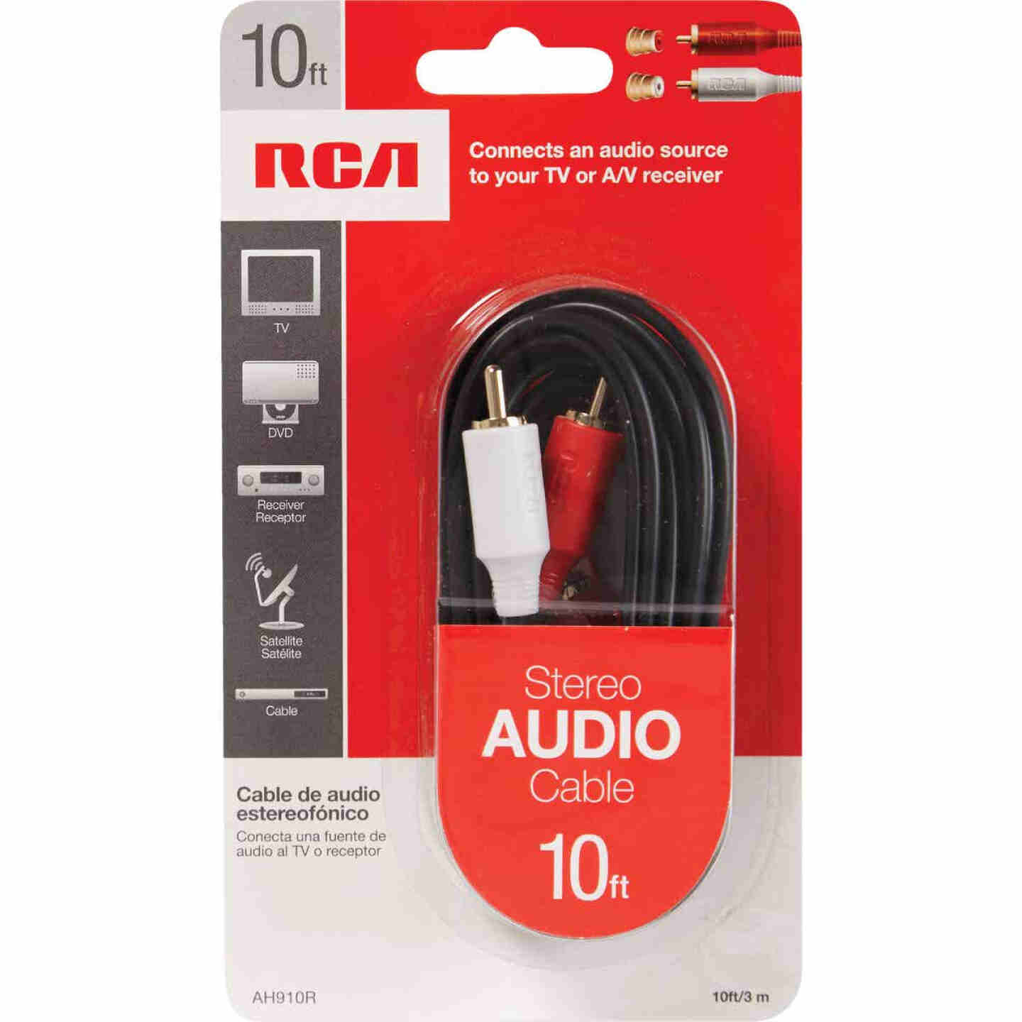 RCA 10 Ft. Black Stereo Audio Cable Image 2