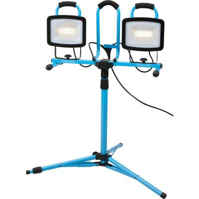 Channellock 13,200 Lm. LED Twin Head Tripod Stand-Up Work Light