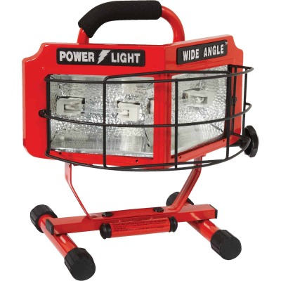 Designers Edge Power Light 8000 Lm. Halogen H-Stand Portable Work Light