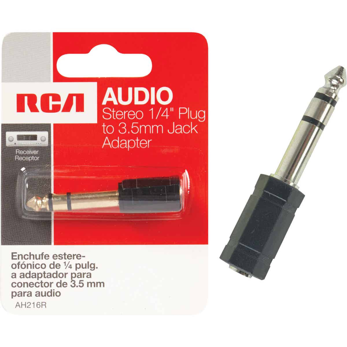 RCA 1/4 In. Plug to 3.5mm Jack Adapter Audio Adapter Image 1