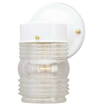 Home Impressions White Incandescent Type A Outdoor Wall Light Fixture