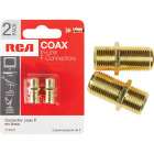 RCA In-Line Feed-Through Coax Connector (2-Pack) Image 1