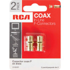 RCA In-Line Feed-Through Coax Connector (2-Pack) Image 2