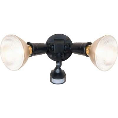 Bronze Motion Sensing Dusk To Dawn Incandescent Floodlight Fixture