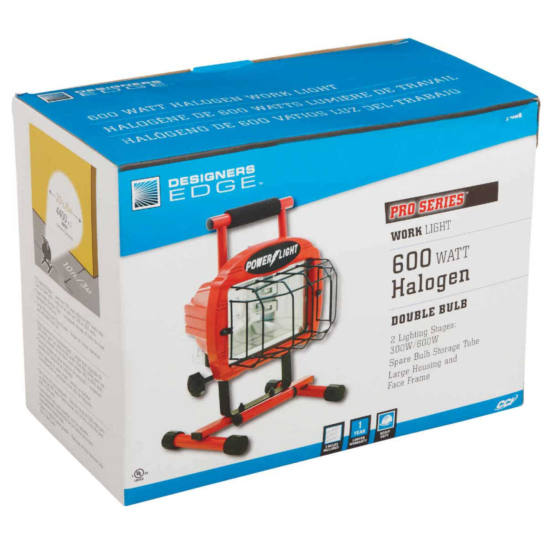 Designers Edge Power Light 9600 Lm. Halogen H-Stand Portable Work Light Image 2