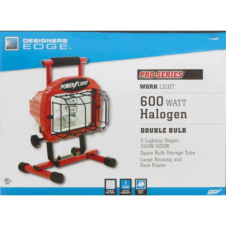 Designers Edge Power Light 9600 Lm. Halogen H-Stand Portable Work Light Image 4