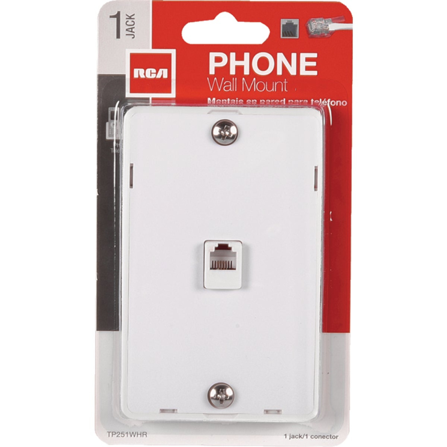 RCA White Wall Telephone Jack Image 1