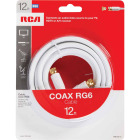 RCA 12 Ft. White Digital RG6 Coaxial Cable Image 2