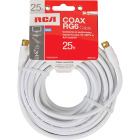 RCA 25 Ft. White RG6 Coaxial Cable Image 2