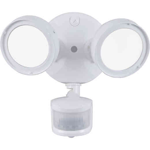 Halo Lumen Selectable White Motion Activated LED Floodlight Fixture