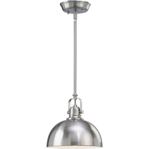 Home Impressions 1-Bulb Brushed Nickel Incandescent Rod Pendant Light Fixture
