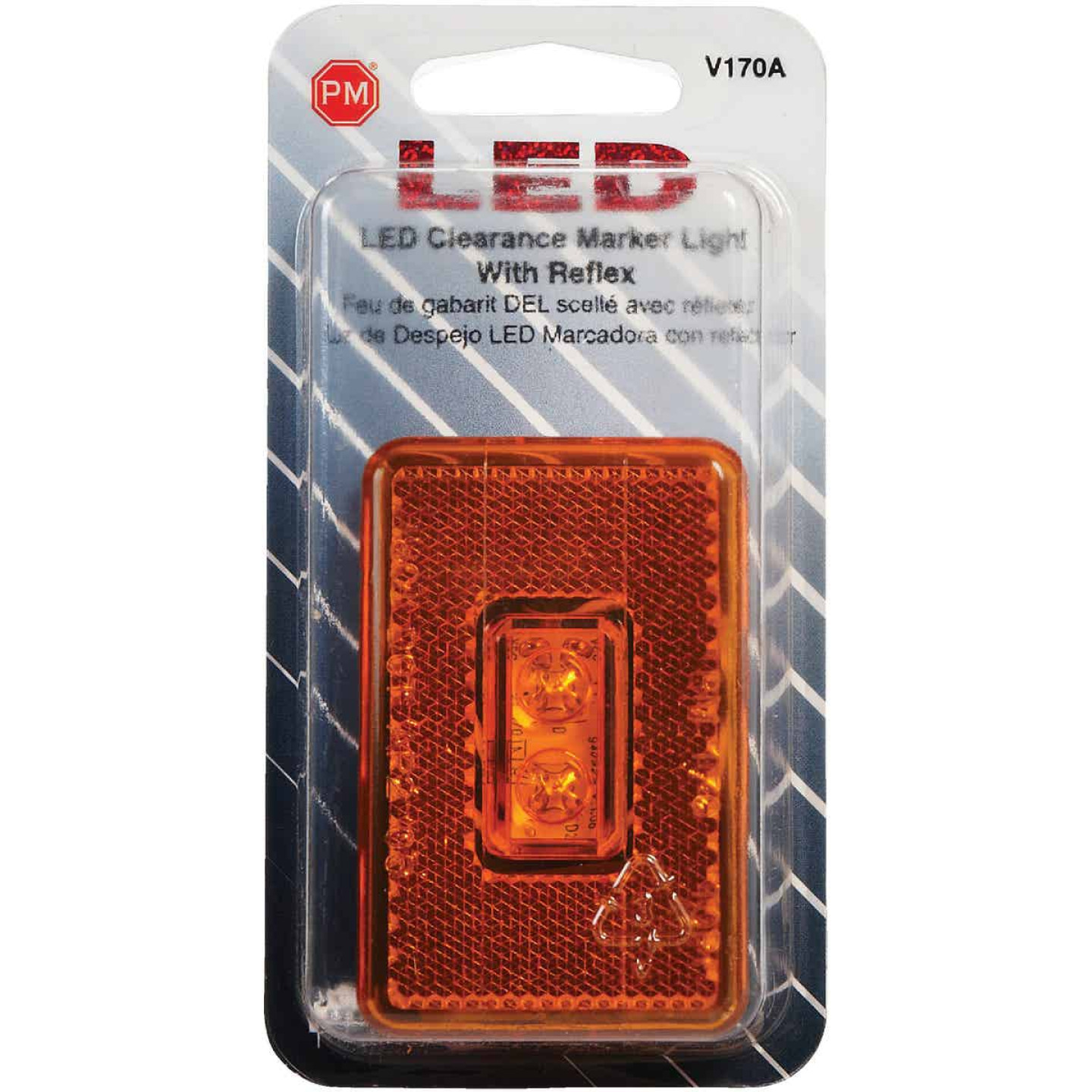 Peterson Rectangle Amber Clearance Light Image 2