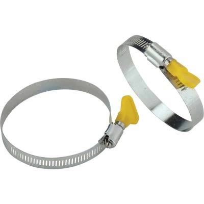 Camco 3 In. Twist-It Clamp RV Sewer Hose Connector, (2-Pack)