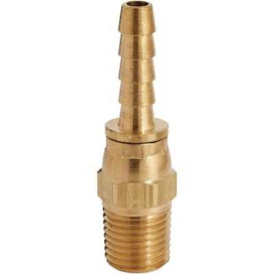 Milton Full Swivel 1/4 In. MPT x 1/4 In. Swivel Brass Plug