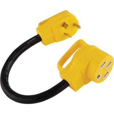 Camco PowerGrip 30A/50A Dogbone RV Power Cord Adapter