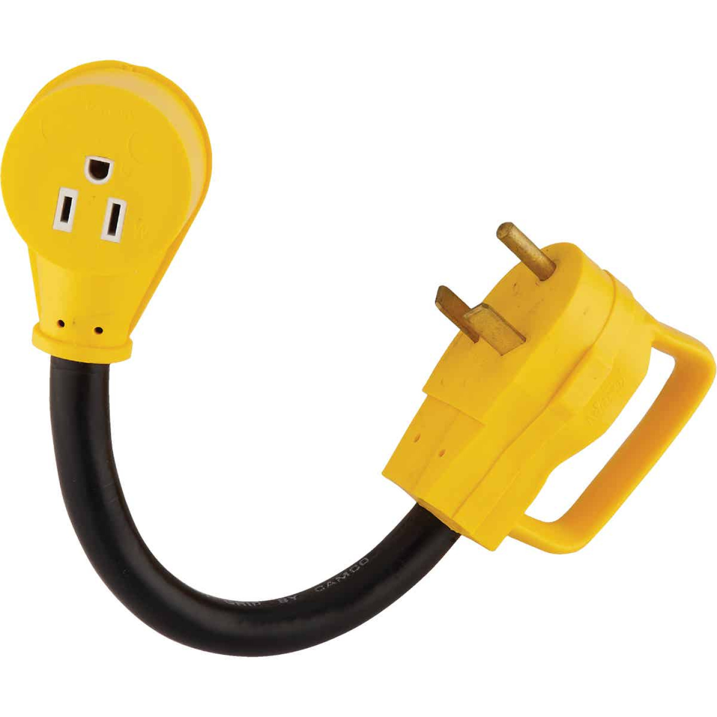 Camco PowerGrip 30A/15A Dogbone RV Power Cord Adapter Image 1