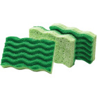 Libman 4.5 In. x 3 In. Green Medium Duty Scrubbing Sponge (2-Count) Image 1