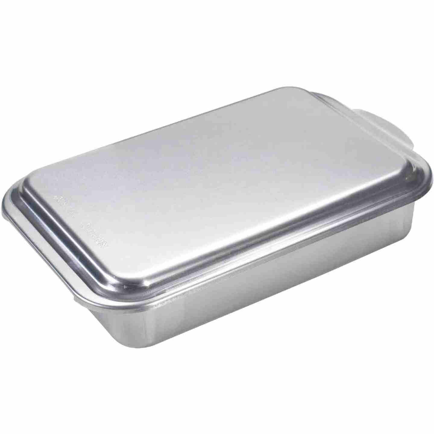 NordicWare 9 In. x 13 In. Aluminum Cake Pan with Lid Image 1