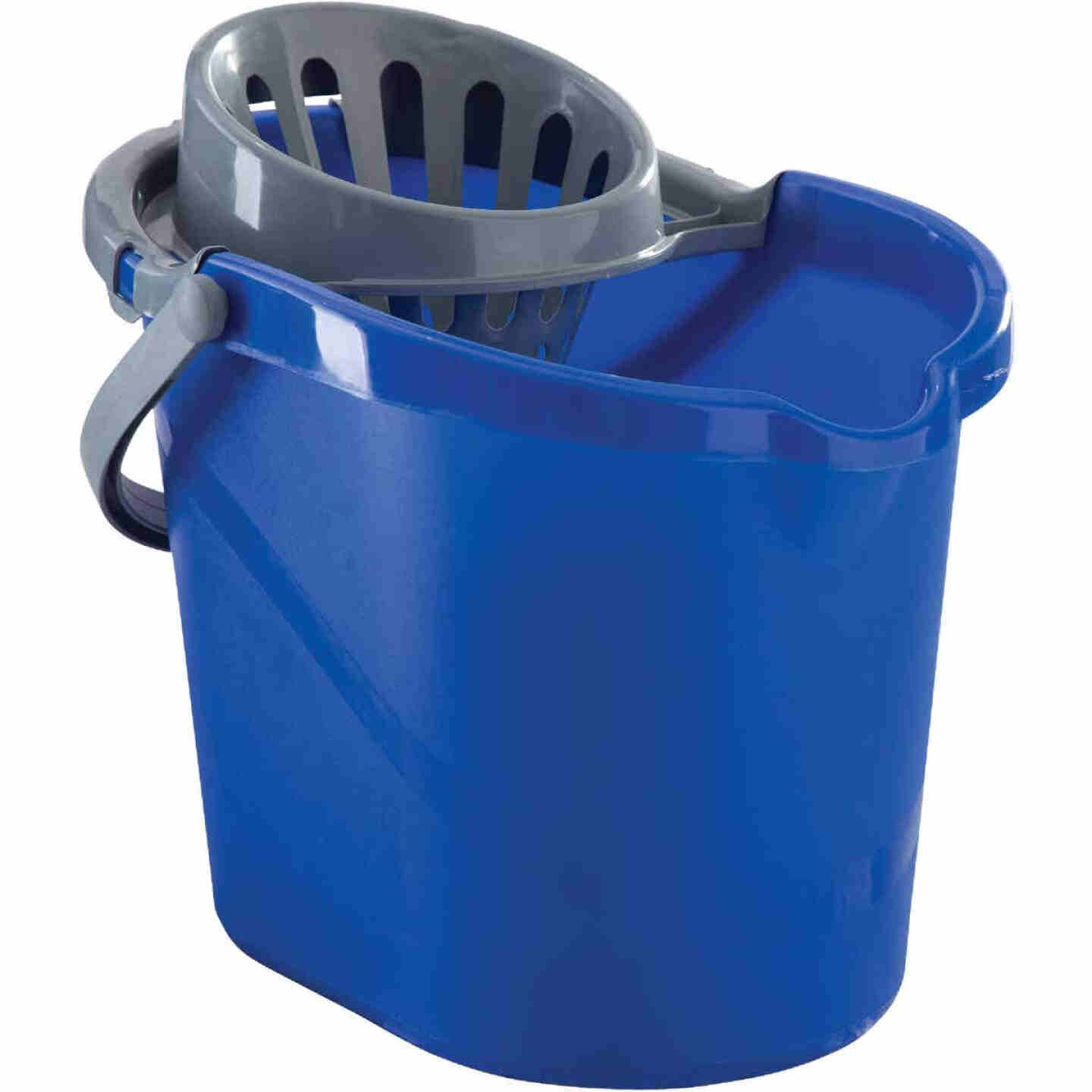 Quickie 15 Qt. Blue Mop Bucket With Wringer Image 1