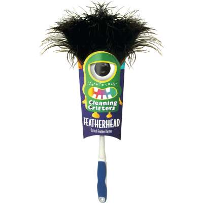 Ettore Cleaning Critters Featherhead Ostrich Duster with Ergonomic Handle
