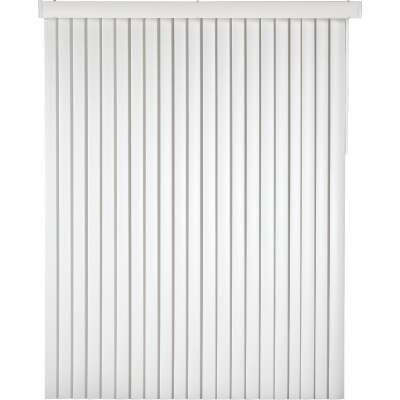 Home Impressions 66 In. x 84 In. x 3.5 In. White Vinyl Light Filtering Vertical Cordless Blind
