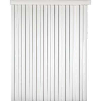Home Impressions 78 In. x 84 In. x 3.5 In. White Vinyl Light Filtering Vertical Cordless Blind