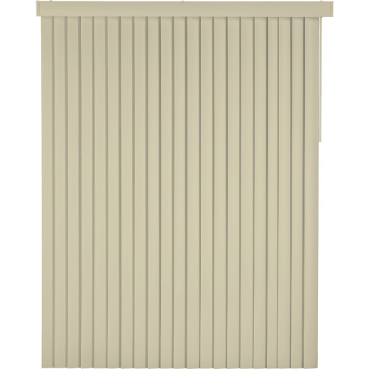 Home Impressions 78 In. x 84 In. x 3.5 In. Ivory Vinyl Room Darkening Vertical Cordless Blind