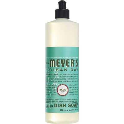 Mrs. Meyer's Clean Day 16 Oz. Basil Scent Liquid Dish Soap