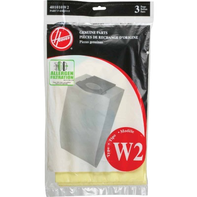 Hoover Type W2 Allergen Filtration Vacuum Bag (3-Pack)