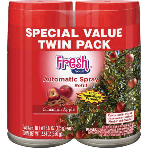 Fresh House Cinnamon Apple Air Freshener Refill (2-Count)