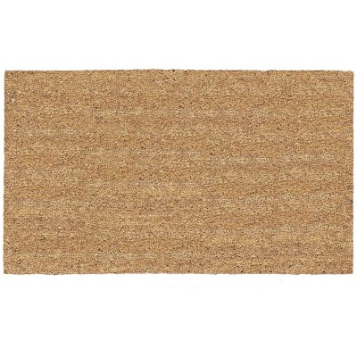 Americo Home Tan 16 In. x 27 In. Coir/Vinyl Door Mat