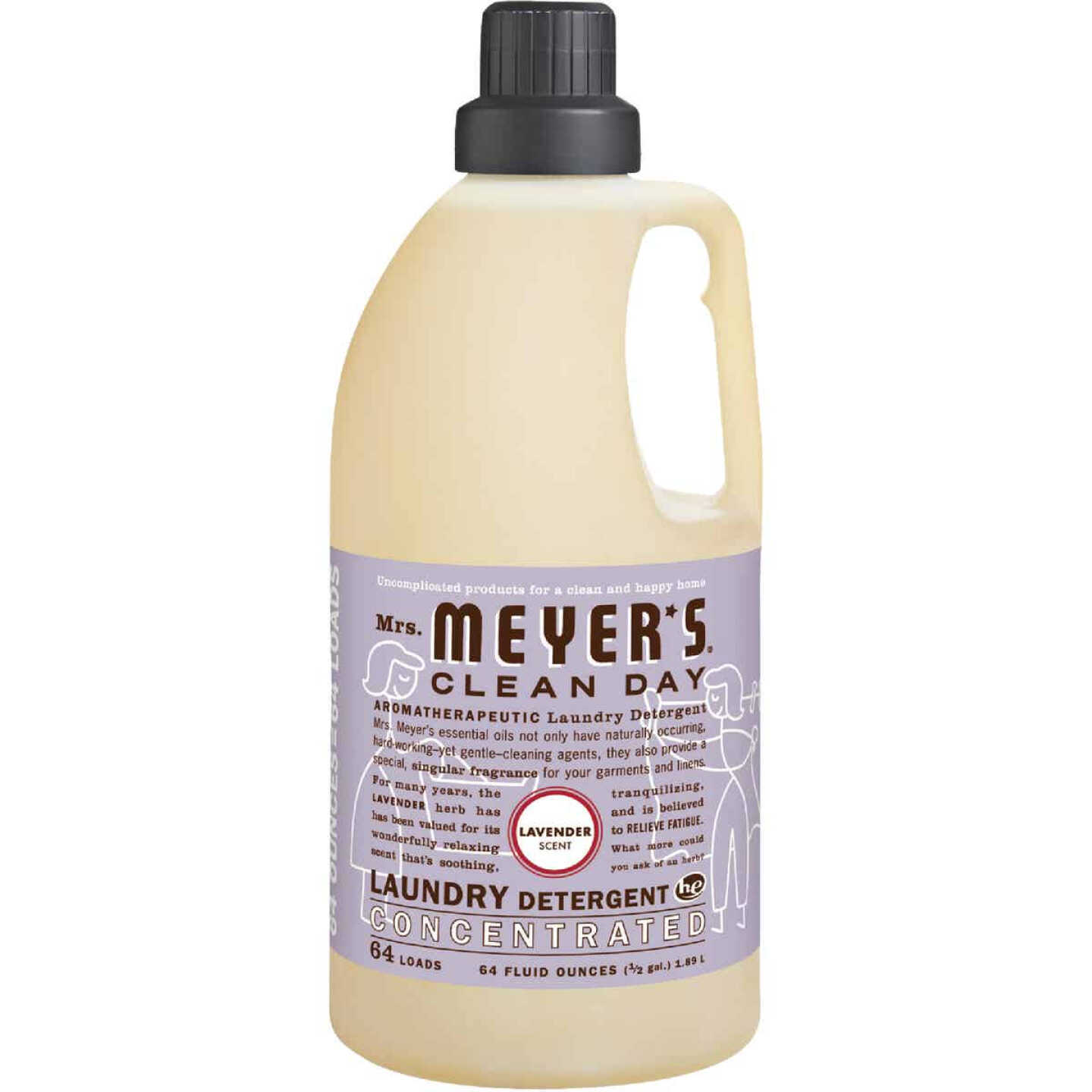 Mrs. Meyer's Clean Day 64 Oz. Lavender Concentrated Laundry Detergent Image 1