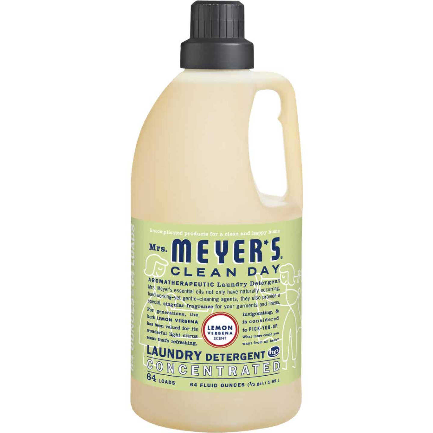 Mrs. Meyer's Clean Day 64 Oz. Lemon Concentrated Laundry Detergent Image 1