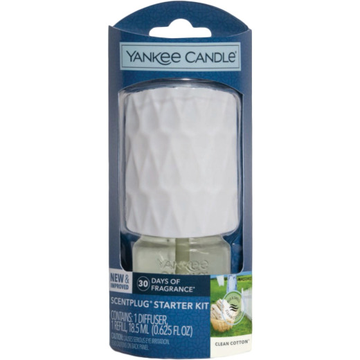 Yankee Candle ScentPlug Clean Cotton Air Freshener Starter Kit